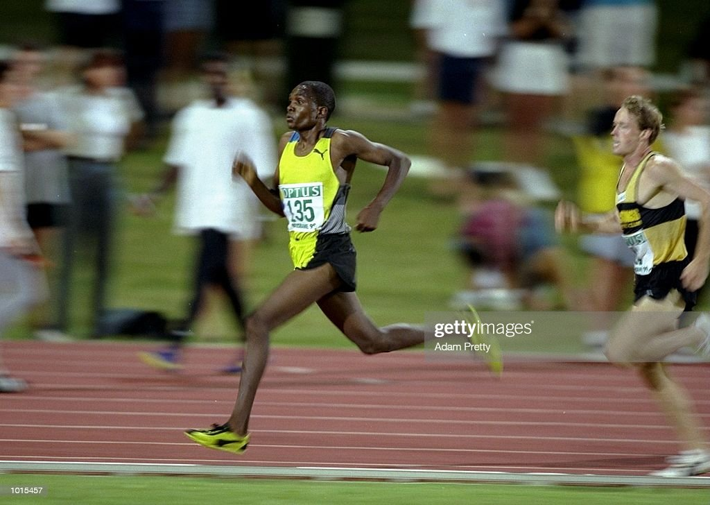 Edwin Maranga of Kenya in action during the Mens 1500m at the Optus Athletics Grand Prix Final in Brisbane, Australia. \ Mandatory Credit: Adam Pretty /Allsport