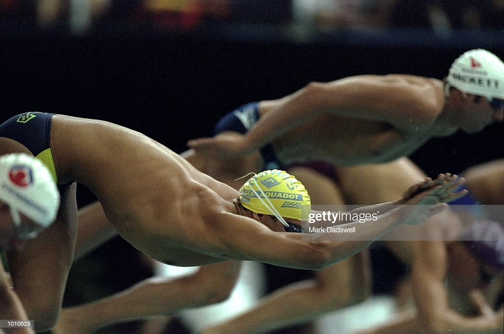 Ian Thorpe of Australia at the start of a race during the 1999 Australian Open Championships and Pan Pacific Selection Trials in Brisbane, Australia. \ Mandatory Credit: Mark Dadswell /Allsport