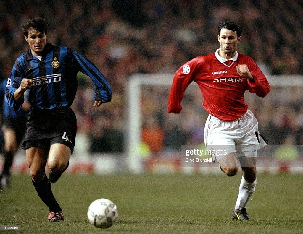 Javier Zanetti and Ryan Giggs