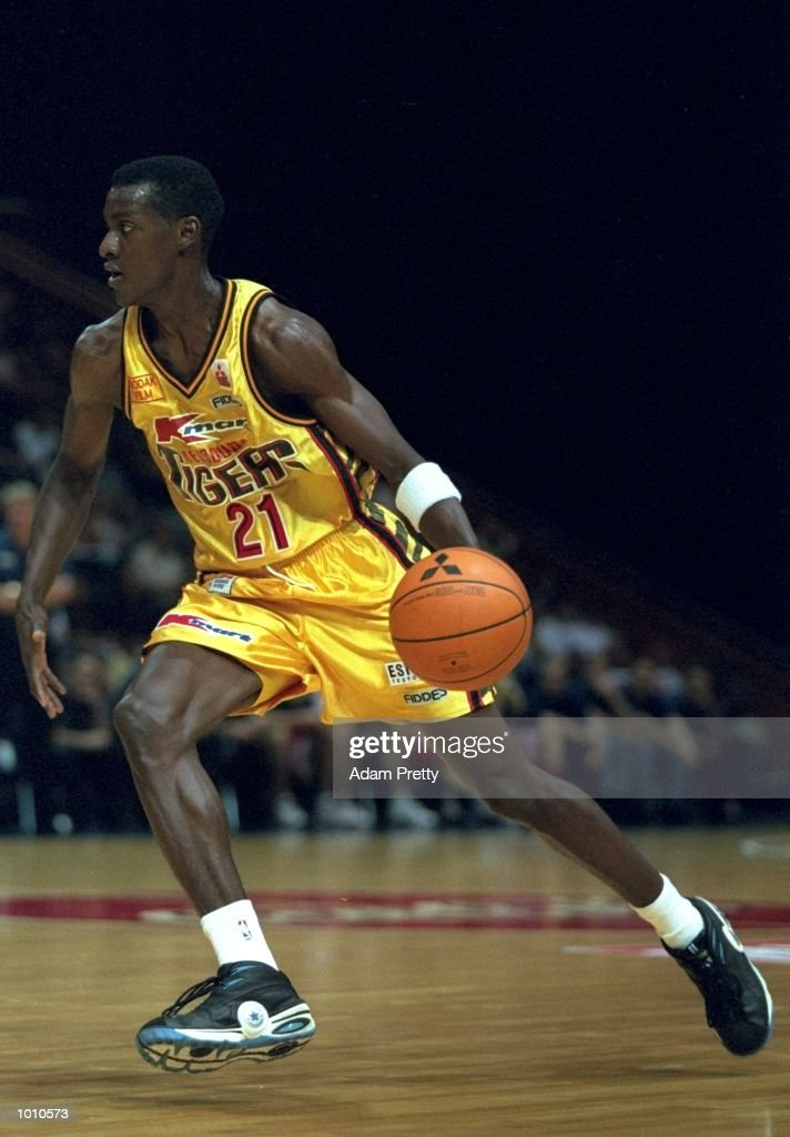 Lanard Copeland of the Melbourne Tigers in action against the Brisbane Bullets during the 1999 NBL Finals, from the Brisbane Convention Centre, Brisbane, Australia. \ Mandatory Credit: Adam Pretty /Allsport