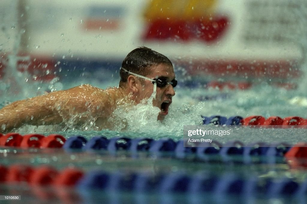 Matt Dunn of Australia in action during the Mens 400 Individual Medley at the 1999 Australian Open Championships and Pan Pacific Selection Trials from the Chandler Aquatic Centre, Brisbane, Australia. \ Mandatory Credit: Adam Pretty /Allsport