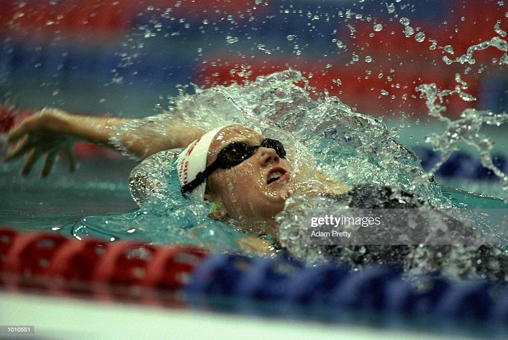 Megan McMahon of Australia in action during the Womens 200m Individual Medley during the 1999 Australian Open Championships and Pan Pacific Selection Trials in Brisbane, Australia. \ Mandatory Credit: Adam Pretty /Allsport