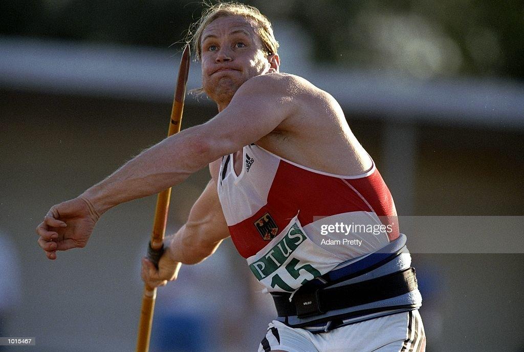 Peter Blank of Germany in action during the Mens Javelin at the Optus Athletics Grand Prix Final in Brisbane, Australia. \ Mandatory Credit: Adam Pretty /Allsport