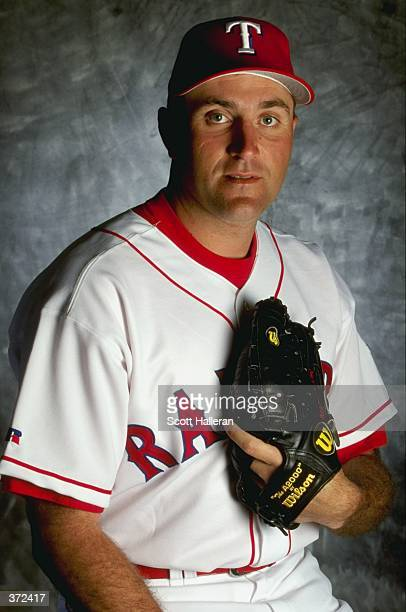 Pitcher Mark Clark of the Texas Rangers poses for a studio portrait on Photo Day during Spring Training at the Charlotte Stadium in Port Charlotte...