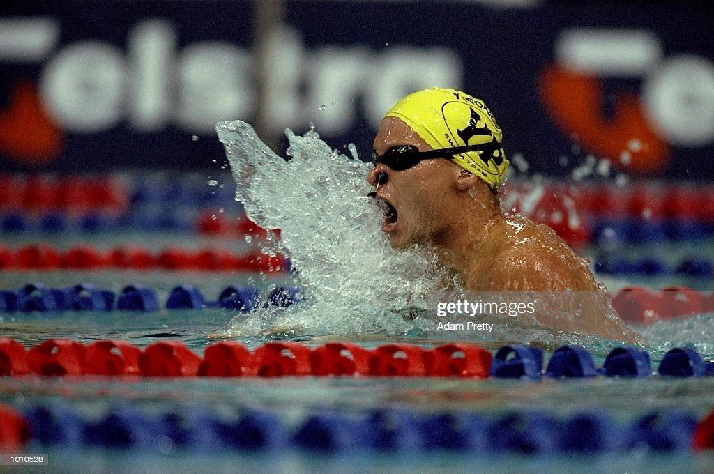 Robert Van Der Zant of Australia on his way to winning the Mens 200m Individual Medley at the 1999 Australian Open Championships and Pan Pacific Selection Trials from the Chandler Aquatic Centre, Brisbane, Australia. \ Mandatory Credit: AdamPretty /Allsport