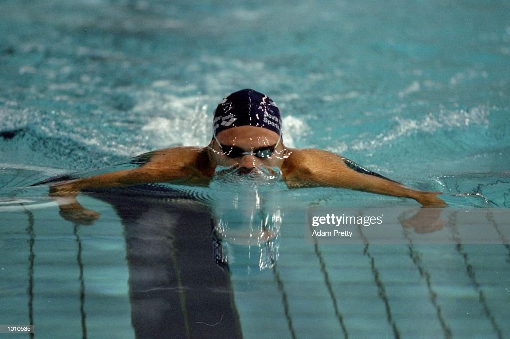 Ryan Mitchell of Australia on his way to winning the 200m Breastroke at the 1999 Australian Open Championships and Pan Pacific Selection Trials from the Chandler Aquatic Centre, Brisbane, Australia. \ Mandatory Credit: Adam Pretty /Allsport