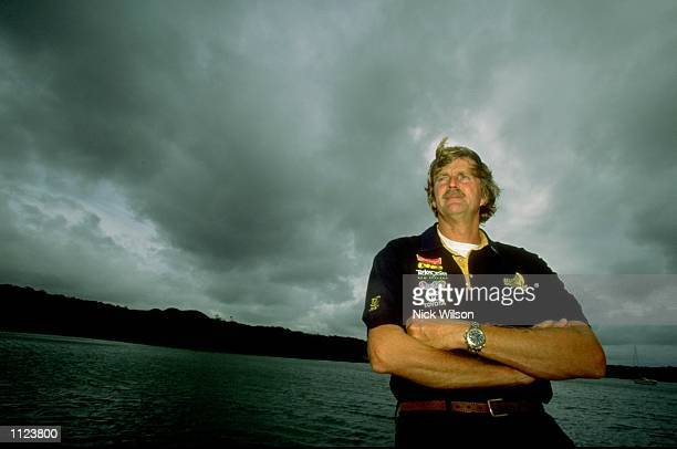 Team New Zealand's Sir Peter Blake at the Road to America's Cup Regatta at Auckland Harbour in New Zealand Mandatory Credit Nick Wilson /Allsport