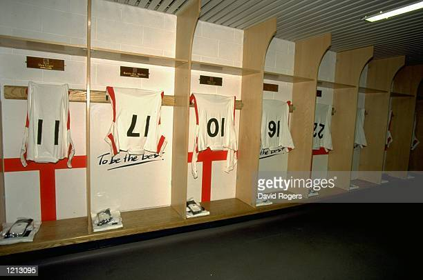 The England dressing room before the Five Nations match against France at Twickenham in London England England won the 2110 Mandatory Credit David...