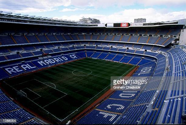 The Santiago Bernabeu Stadium home of Real Madrid Mandatory Credit Graham Chadwick /Allsport