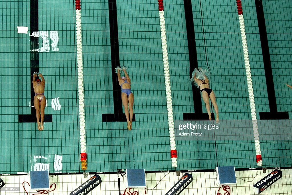 The start of the Womens 1500m Freestyle during the 1999 Australian Open Championships and Pan Pacific Selection Trials in Brisbane, Australia. \ Mandatory Credit: Adam Pretty /Allsport