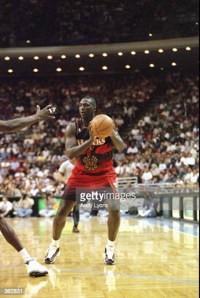 Tyrone Corbin of the Atlanta Hawks in action during the game against the Orlando Magic at the Orlando Arena in Orlando Florida The Magic defeated the...