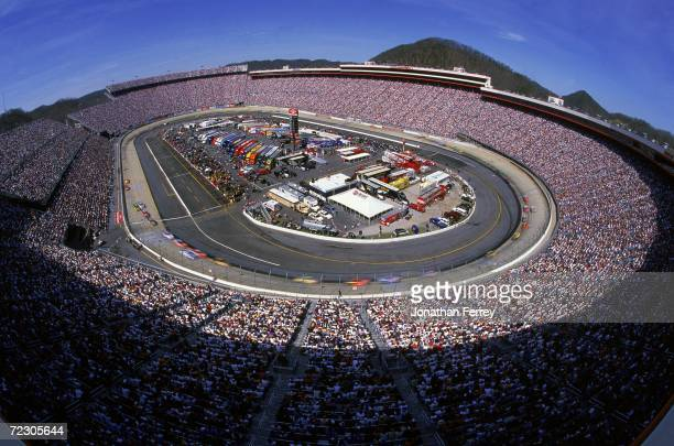 A general view of the track during the Food City 500 Part of the NASCAR Winston Cup Series at the Bristol Motor Speedway in Bristol Tennessee...