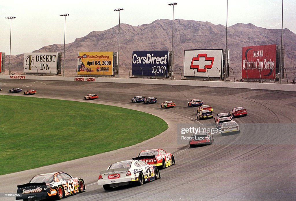 A general view of turn one during the Busch Grand National Sam''s Town 300 at Las Vegas Motorspeedway in Las Vegas Nevada
