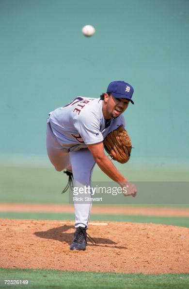 Brandon Villafuerte of the Detroit Tigers pitches the ball during the Spring Training Game against the Philadelphia Phillies at Jack Russell Memorial...