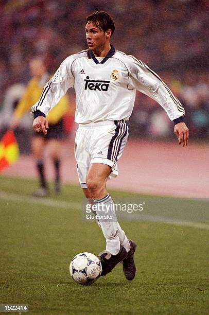 Fernando Redondo of Real Madrid during the UEFA Champions League game between Bayern Munich and Real Madrid at the Olympic Stadium in Munich Germany...