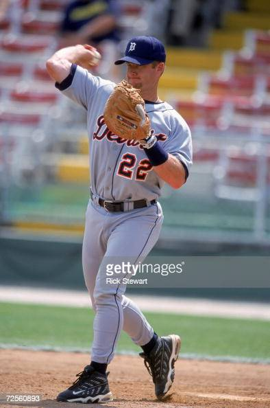 Gregg Zawn of the Detroit Tigers throws the ball during the Spring Training Game against the Philadelphia Phillies at Jack Russell Memorial Stadium...