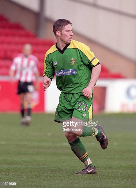 Ian Richards of Halifax Town during the Nationwide League Division Three game between Lincoln City and Halifax Town at Sincil Bank in Lincoln England...