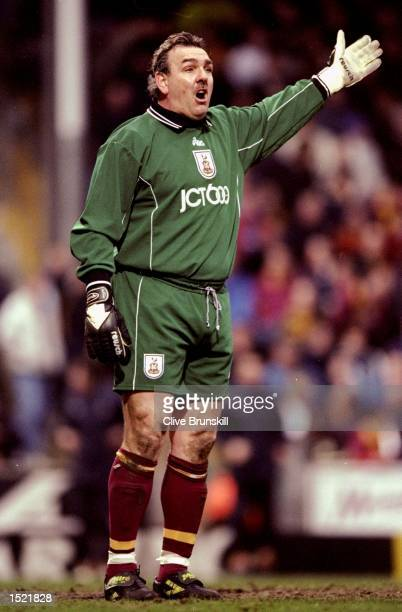 Neville Southall in goal for Bradford City during the FA Carling Premiership match against Leeds United at Valley Parade in Bradford England...