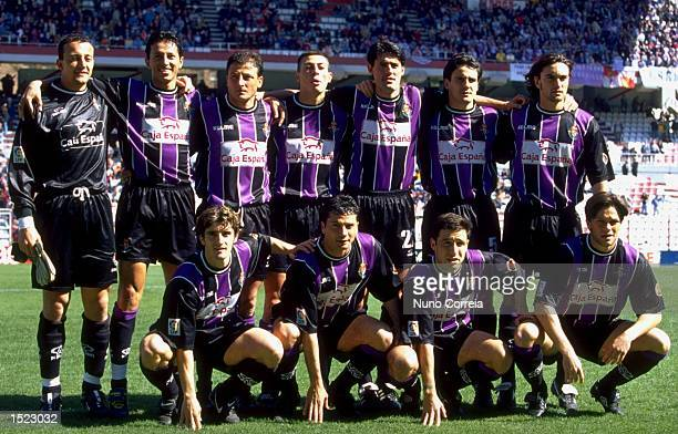 Real Valladolid before the Spanish Primera Liga game between Rayo Vallecano De Madrid and Real Valladolid at the De Vallecas stadium in Madrid Spain...
