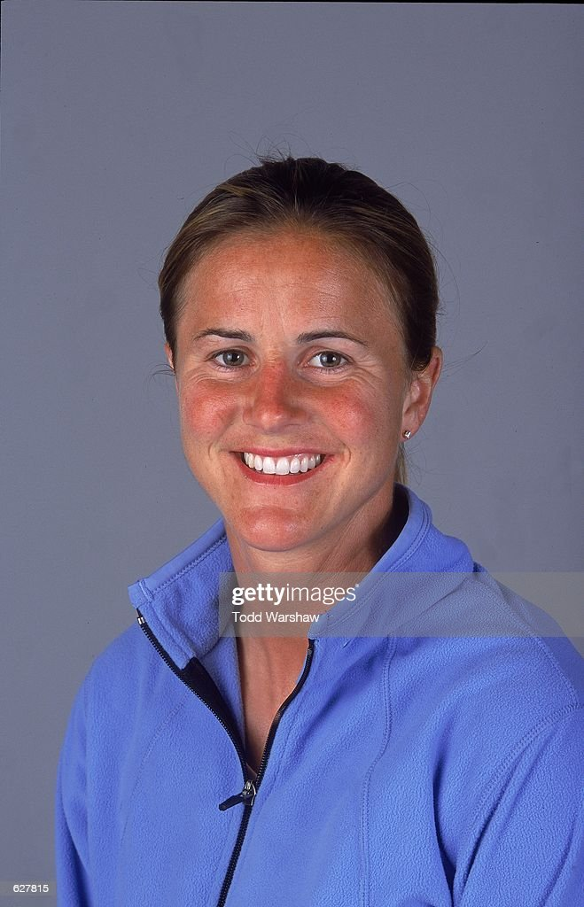 Brandi Chastain of the Bay Area CyberRays poses for a studio portrait during the WUSA Spring Training at the Arco Olympic Training Center in Chula Vista, California.Mandatory Credit: Todd Warshaw /Allsport