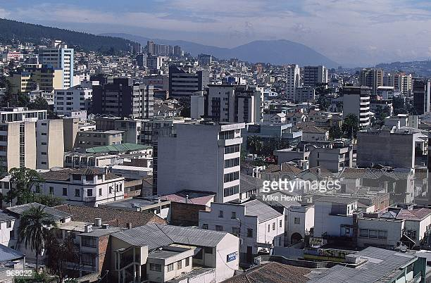 General view of the Ecuadorian city of Quito home to the FIFA 2002 World Cup Qualifying match against Brazil played at the Estadio Olimpico in Quito...