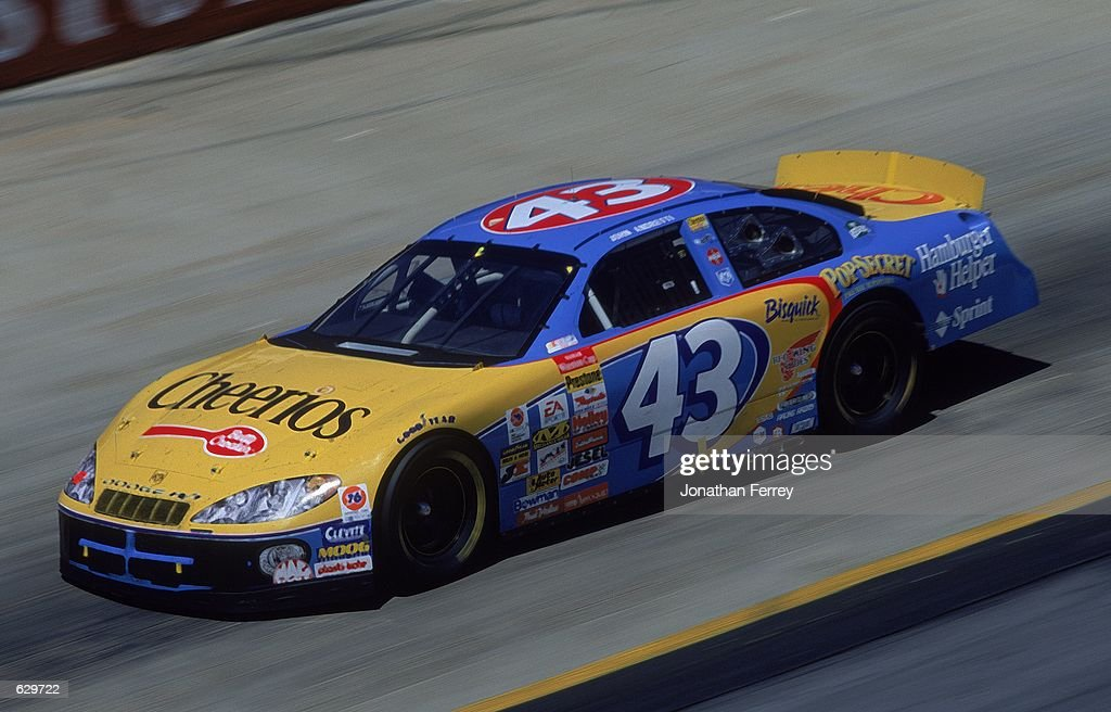 John Andretti who drives a Dodge Intrepid for Petty Enterprises speeds down the trackduring the Food City 500 part of the NASCAR Winston Cup Series...