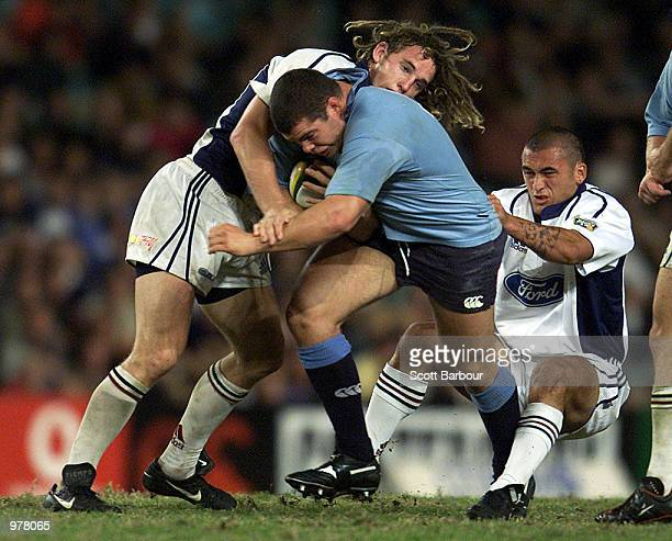 Mark Crick of the Waratahs in action during the New South Wales Waratahs v Auckland Blues Super 12 rugby match at the Sydney Football Stadium Sydney...
