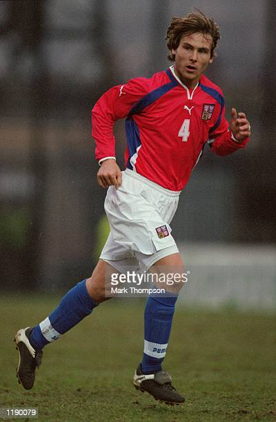 Pavel Nedved of Czech Republic in action during the World Cup 2002 Group Three Qualifying match against Northern Ireland played at Windsor Park in...