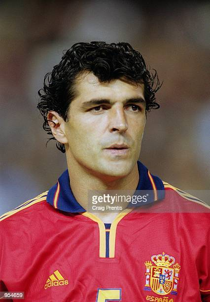 Portrait of Miguel Angel Nadal of Spain lining up for the International Friendly against France at the Estadio Mestalla in Valencia Spain Mandatory...