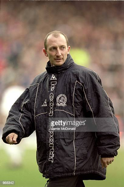 Queens Park Rangers Manager Ian Holloway during the Nationwide Division 1 game against Fulham at Craven Cottage in London England Fulham won the game...