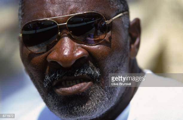 Richard Williams father of Venus and Serena Williams of the USA looks on during the Ericsson Open in Key Biscayne Florida Mandatory Credit Clive...