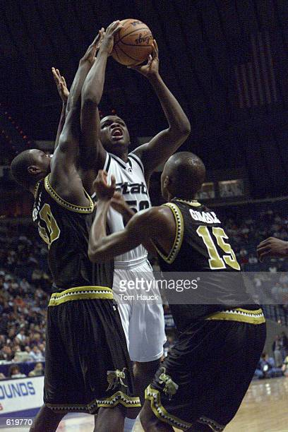 Zach Randolph of the Michigan State Spartans shoots the ball against the Alabama State Hornets during the first round of the NCAA Basketball...
