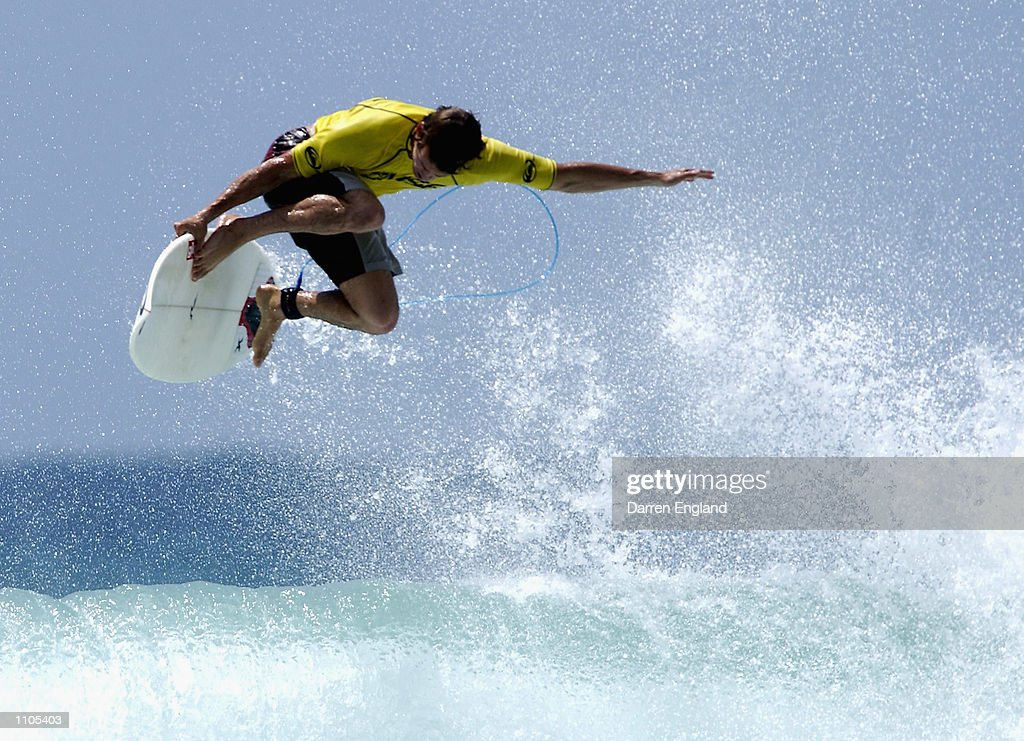Damien Hobgood of the USA in action during the expression session at the Quiksilver Pro at Snapper Rocks on the Gold Coast Australia The Quiksilver...