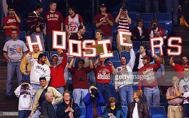 Fans of the Indiana Hoosiers make themselves know as they celebrate the Hoosiers defeat of the Kent State Golden Flashes 8169 in the Championship of...