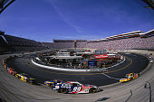 Jeff Burton who drives a Ford for Citgo speeds around the track during the Food City 500 at the Bristol Motor Speedway in Bristol TennesseeMandatory...
