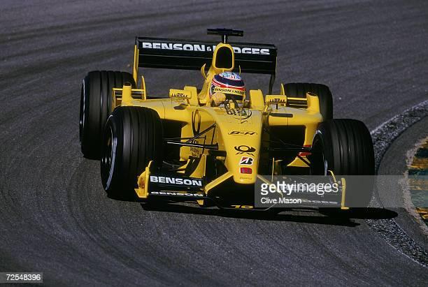 Takuma Sato of Japan and Jordan Honda in action during the Brazilian Formula One Grand Prix at Interlagos in Sao Paulo Brazil Mandatory Credit Clive...