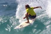 World Championship Tour surfer Sofia Mulanovich of Peru upset four times ASP world champion Layne Beachley of Australia in round three of the Roxy...