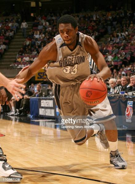 Mar 23 2007 East Rutherford NJ USA Vanderbilt against Georgetown PATRICK EWING JR during regional semifinals of the NCAA basketball tournament in...