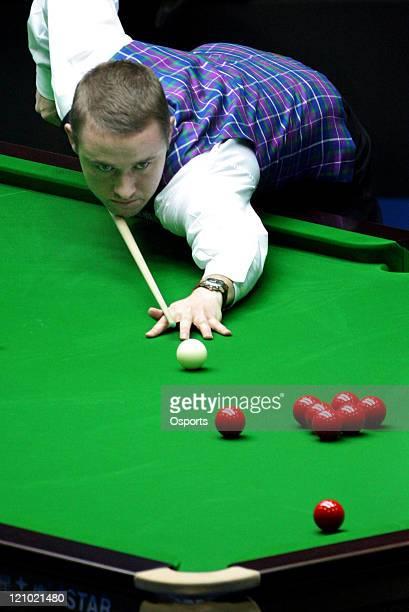 Mar 27 Beijing Stephen Hendry of Scotland plays a shot during his match against Fu Jiajun of Hong Kong China at the 2007 World Snooker China open at...