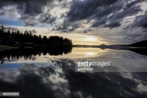Mar 7 sunset : Bildbanksbilder