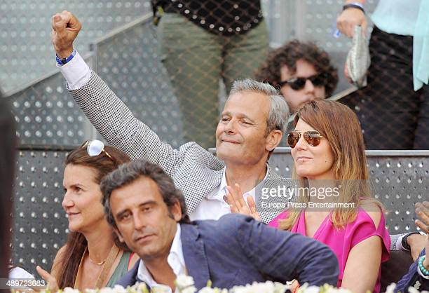 Mar Flores and Javier Merino attend Mutua Madrid Open at La Caja Magica on May 11 2014 in Madrid Spain