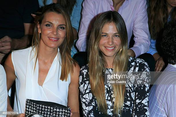 Mar Flores and model Martina Klein attend Mercedes Benz Fashion Week Madrid at Ifema on September 12 2014 in Madrid Spain