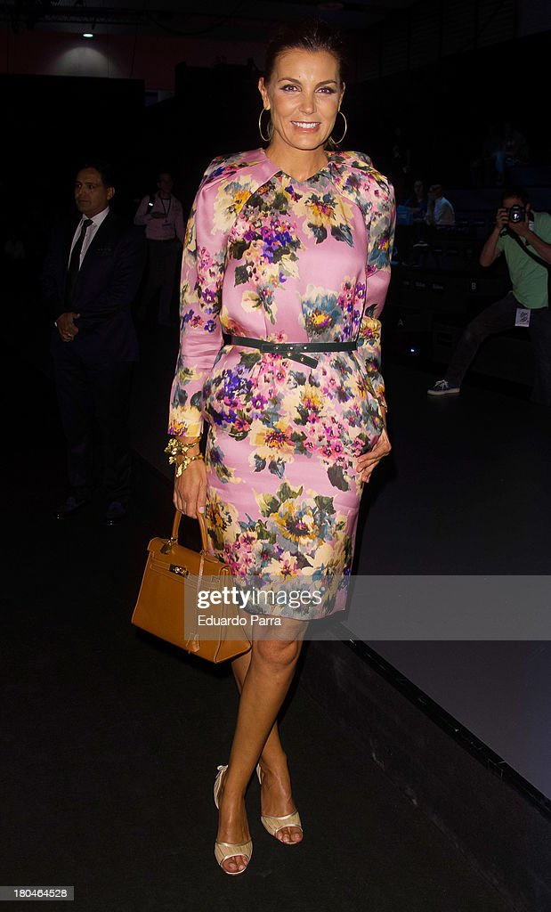 Mar Flores attends a fashion show during the Mercedes Benz Fashion Week Madrid Spring/Summer 2014 on September 13, 2013 in Madrid, Spain.