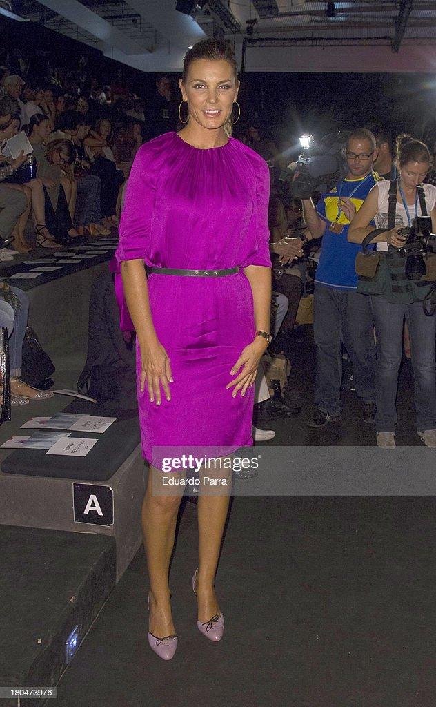 <a gi-track='captionPersonalityLinkClicked' href=/galleries/search?phrase=Mar+Flores&family=editorial&specificpeople=2121506 ng-click='$event.stopPropagation()'>Mar Flores</a> attends a fashion show during the Mercedes Benz Fashion Week Madrid Spring/Summer 2014 on September 13, 2013 in Madrid, Spain.