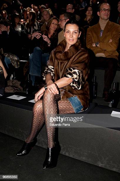 Mar Flores attends day three of Cibeles Fashion Week at Ifema on February 20 2010 in Madrid Spain