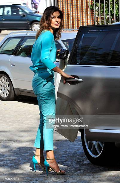 Mar Flores attends her son Mauro's First Communion on May 22 2013 in Madrid Spain