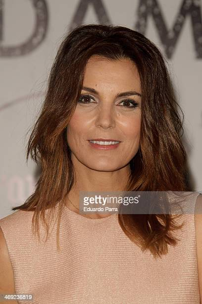 Mar Flores attends Jorge Vazquez Pret a Porter collection presentation photocall at Royal Botanic Garden on February 13 2014 in Madrid Spain