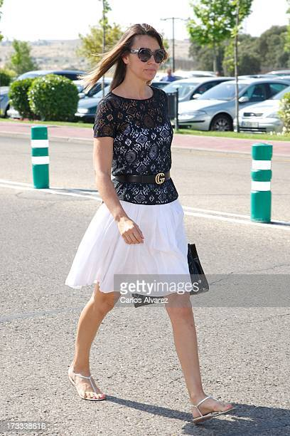 Mar Flores attends the funeral chapel for the journalist Concha Garcia Campoy at La Paz Morgue on July 12 2013 in Madrid Spain