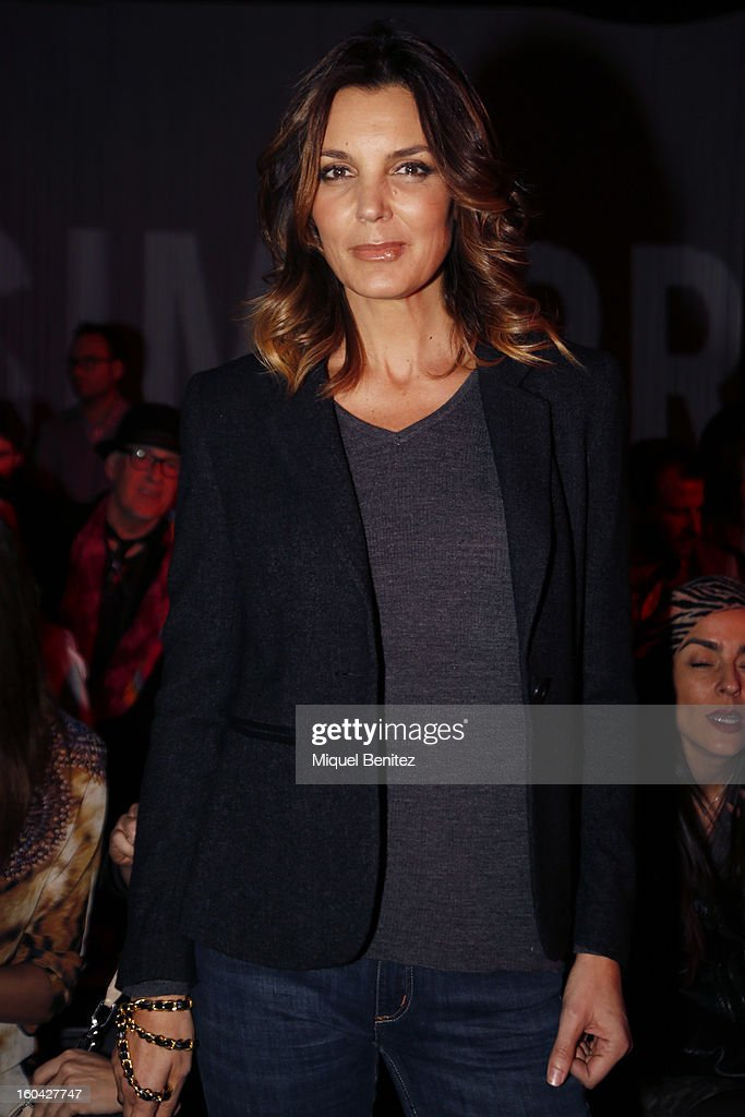 Mar Flores attends the Javier Simorra fashion show as part of the 080 Barcelona Fashion Week Autumn/Winter 2013-2014 on January 31, 2013 in Barcelona, Spain.