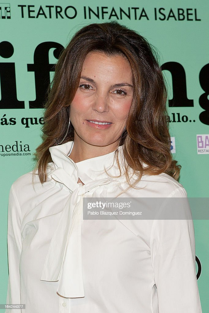 Mar Flores attends the 'Lifting' premiere at Infanta Isabel Theatre on March 21, 2013 in Madrid, Spain.